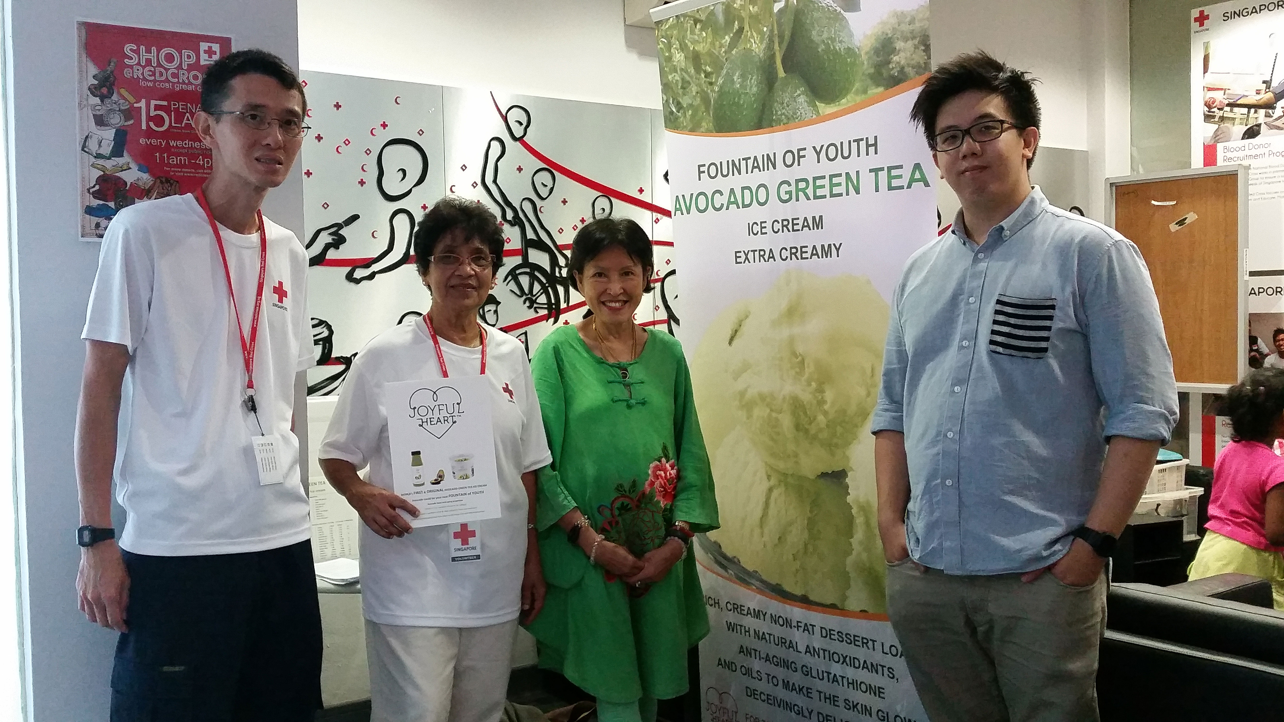 GLOBAL LAUNCH OF AVOCADO GREEN TEA ICE CREAM AT RED CROSS